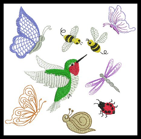 birds & bugs bonus set